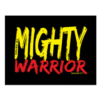 Saved by Mighty Warrior Postcard