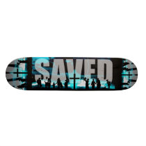Saved Christian Logo Skateboard deck skating board