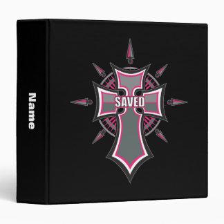 SAVED Christian Pink Cross Binder