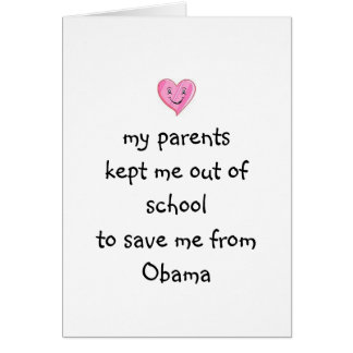 Saved from Obama! Card