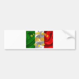 Saved, Italian American in Gold Letters Bumper Sticker