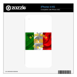Saved, Italian American in Gold Letters Skin For The iPhone 4S