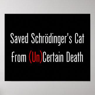 Saved Schrodinger's Cat From (Un)Certain Death Print