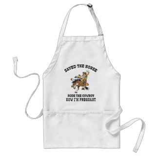 Saved The Horse Rode The Cowboy Pregnant Adult Apron