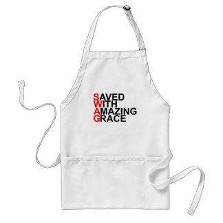 Saved With Amazing Grace (SWAG).png Adult Apron