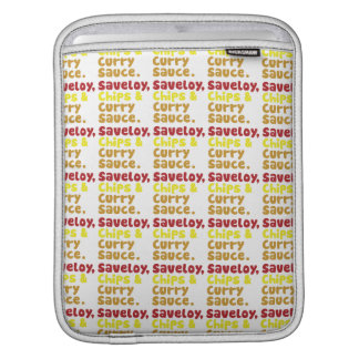 Saveloy, Chips & Curry Sauce. iPad Sleeves