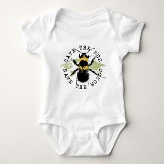 SaveThe Bee! Save The World! Baby Bodysuit