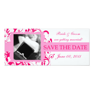 SavetheDate:Pink/White Card