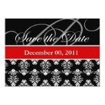 SavetheDate: Rojo/negro/blanco Invitaciones Personalizada