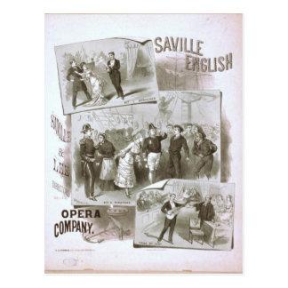 Saville English, 'Opera Company' Retro Theater Postcard