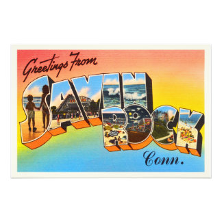 Savin Rock Connecticut CT Vintage Travel Souvenir Photo Print