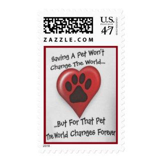 """Saving A Pet..."" High Quality Postage"