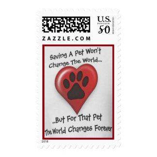 """Saving A Pet..."" High Quality Postage"
