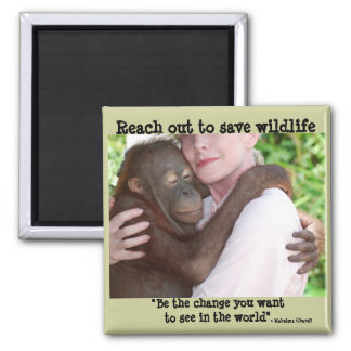 Saving Endangered Species 2 Inch Square Magnet
