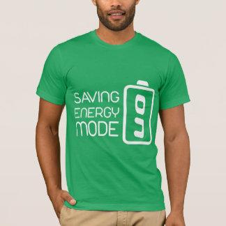 Saving Energy Mode ON Man's Shirt