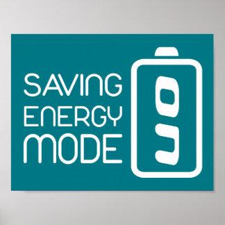 Saving Energy Mode ON Poster