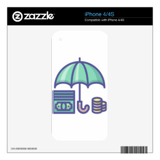 Saving for a Rainy Day iPhone 4 Decal