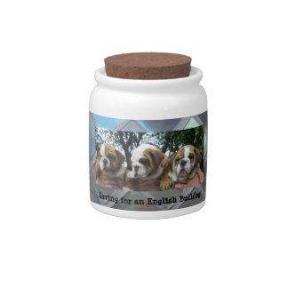 Saving for an English Bulldog Money Jar