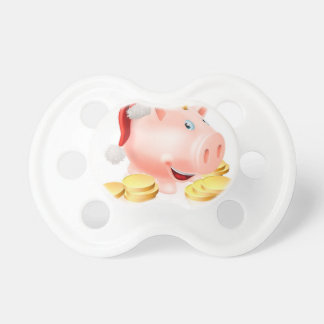 Saving for Christmas Concept Pacifiers