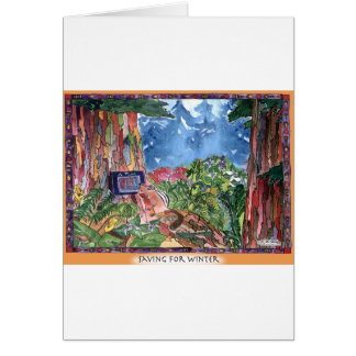 Saving For Winter Stationery Note Card