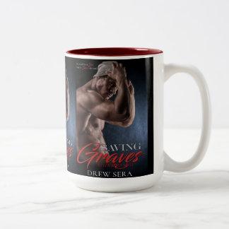 Saving Graves Book Cover by Drew Sera - Cover Two-Tone Coffee Mug
