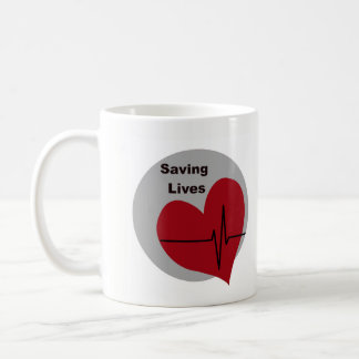 Saving Lives Mug Nurses Medical Staff