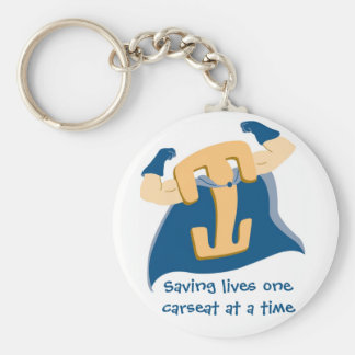 Saving lives one carseat at a time basic round button keychain