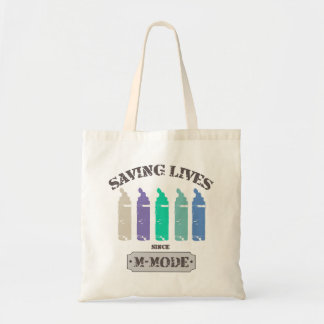 Saving Lives Since MMode Pastels Tote Bag