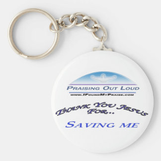 Saving Me Basic Round Button Keychain