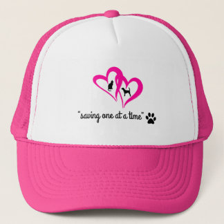 """""""Saving One At A Time"""" Hat (pink)"""