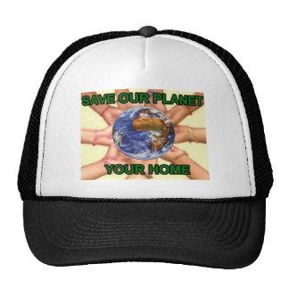 saving planet earth trucker hat