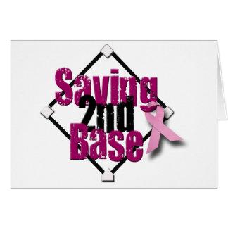 Saving Second Base Greeting Card