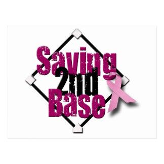 Saving Second Base Postcard