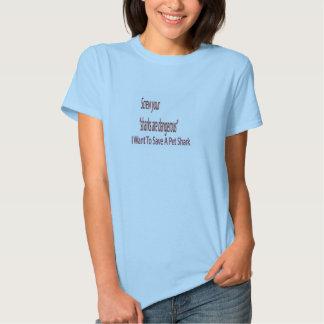 Saving Sharks Tshirts