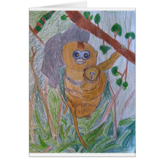 Saving Snub-Nosed Monkeys Card
