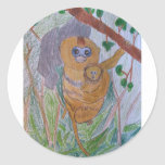 Saving Snub-Nosed Monkeys Classic Round Sticker