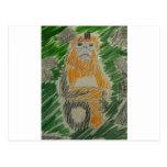 Saving Snub-Nosed Monkeys Postcard