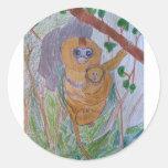 Saving Snub-Nosed Monkeys Round Sticker