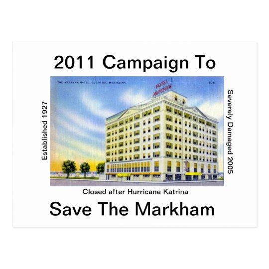Saving The Historic Markham Hotel Postcard