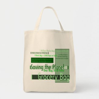 Saving the Planet One Bag At-A-Time Grocery Bag 4 bag