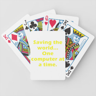 Saving the World One Computer at a Time Playing Cards