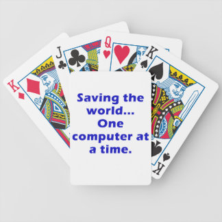 Saving the World One Computer at a Time Poker Deck