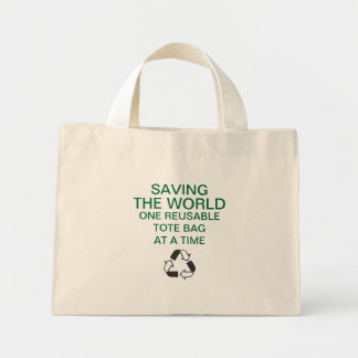 'Saving the World' Reusable Tote Bag