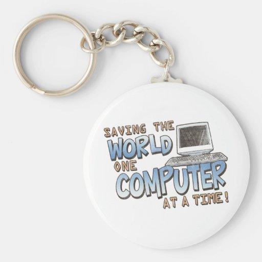 Saving theWorld Key Chain