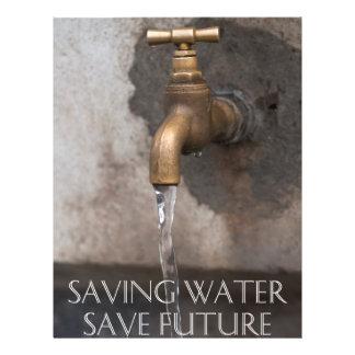 Saving water you save future flyer