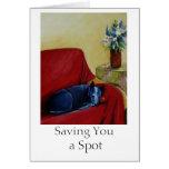 Saving You a Spot Greeting Card