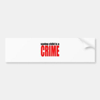 SAVINGCHILDISACRIME harambe killed killing childre Bumper Sticker