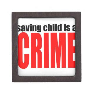 SAVINGCHILDISACRIME harambe killed killing childre Keepsake Box