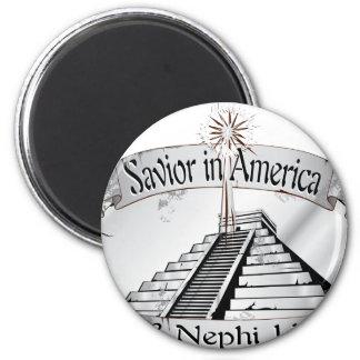 Savior in America - Book of Mormon - 3 Nephi 11 2 Inch Round Magnet