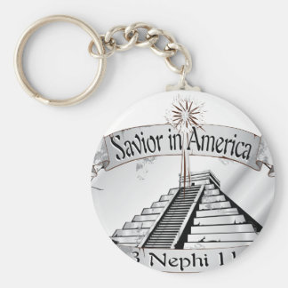 Savior in America - Book of Mormon - 3 Nephi 11 Basic Round Button Keychain